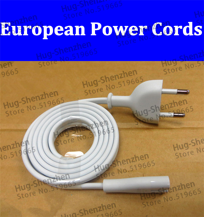 1Pcs 1.8M European 2-Prong Port AC Power Cord Cable For Router for apple TV PS2 PS3 Slim Power Cable