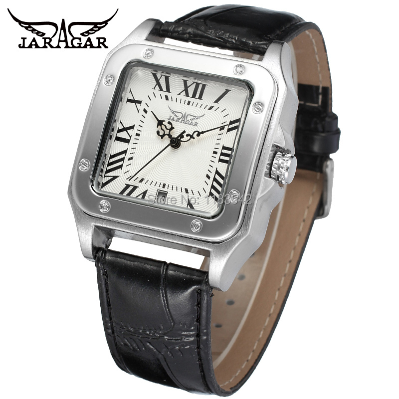 New Winner Casual Automatic Watches Men Hot sale Automatic fashion Men Watch black leather strap Shipping Free WRG8073M3S1 automatic spanish snacks automatic latin fruit machines