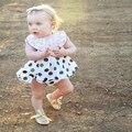 New baby girl dress костюм dot dress + шорты из двух частей женского пола ребенка пончо брючный костюм летом