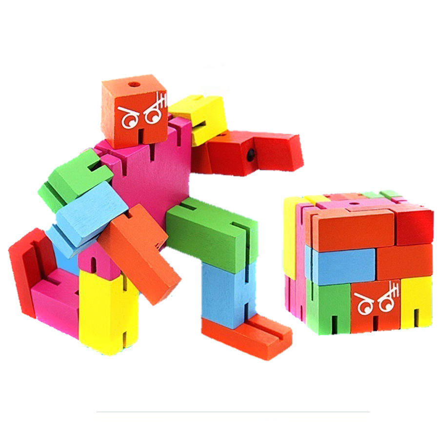 popular cool wooden toysbuy cheap cool wooden toys lots from  - cool office toys wooden robot could deform to cube anti stress cubo reliefadults funny fidget