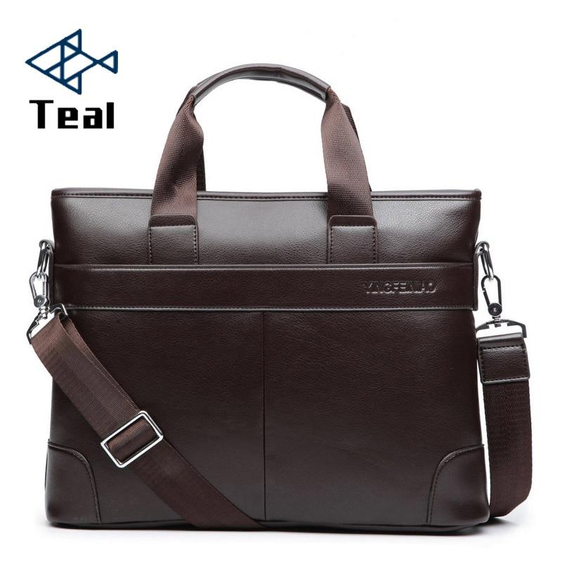 2020 Men s Business Black Casual Bag pu leather Briefcase men s Tote bags Brown High Innrech Market.com
