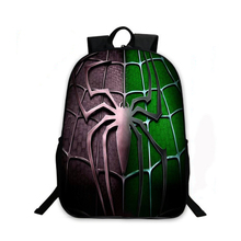 2017 New Casual 3D Cartoon Backpacks For Teenagers Spider Man Bags Boy Girl Book Bags Mochila Escolar Kids Gift Laptop Backpacks