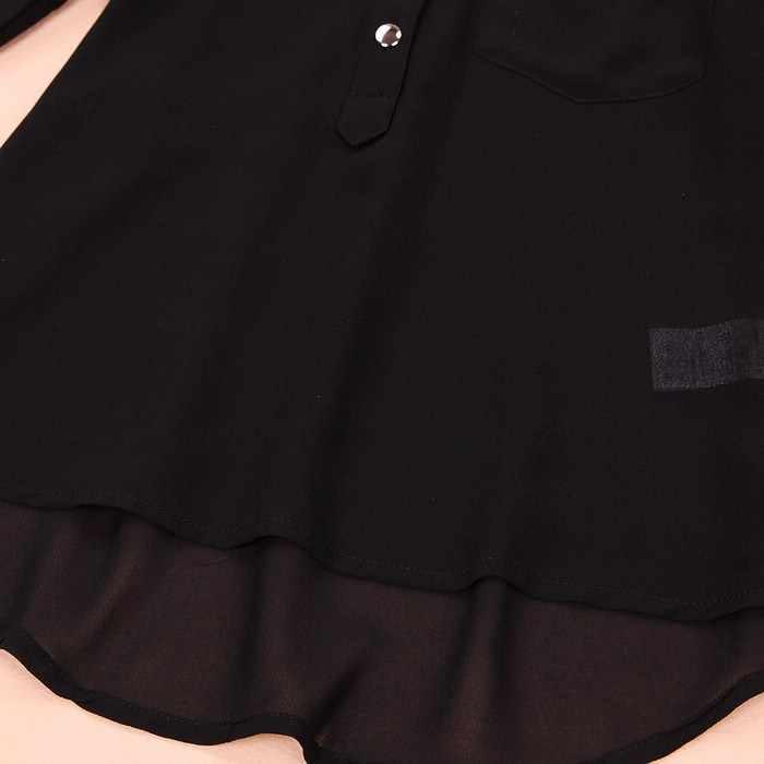 JAYCOSIN Casual Women Shirt Spring 1PC Top Summer Chiffon Long Sleeve Sexy V-Neck Full Blouse 2019 0311