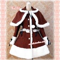 Dot Winter Dress Red Dress Wool Girls Winter Coat