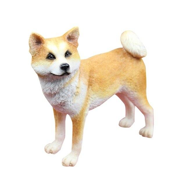 japanse akita kunstmatige hars ambachtelijke hond hand schilderen