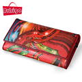 BVLRIGA Designer wallet famous brand women wallet printing genuine leather womens wallets and purses long clutch bag card holder