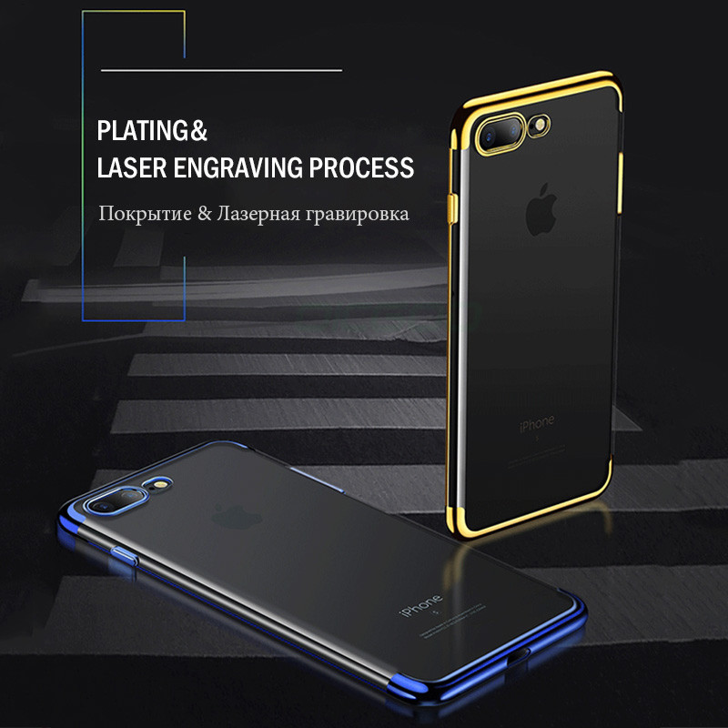 OICGOO Silicon Clear Soft Case For iPhone 6 6s 7 Plus 8 Ultra-Thin Transparent Cover Cases For iPhone 7 8 Plus X 10 Phone Case