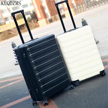 KLQDZMS 20 24 cal toczenia torba na bagaż na kółkach biznes bagażu podróży walizka PC Spinner walizka na kółkach torby na kółkach tanie i dobre opinie Unisex 36 42cm As a description 21 25cm KLQDZMS-001 55 65cm