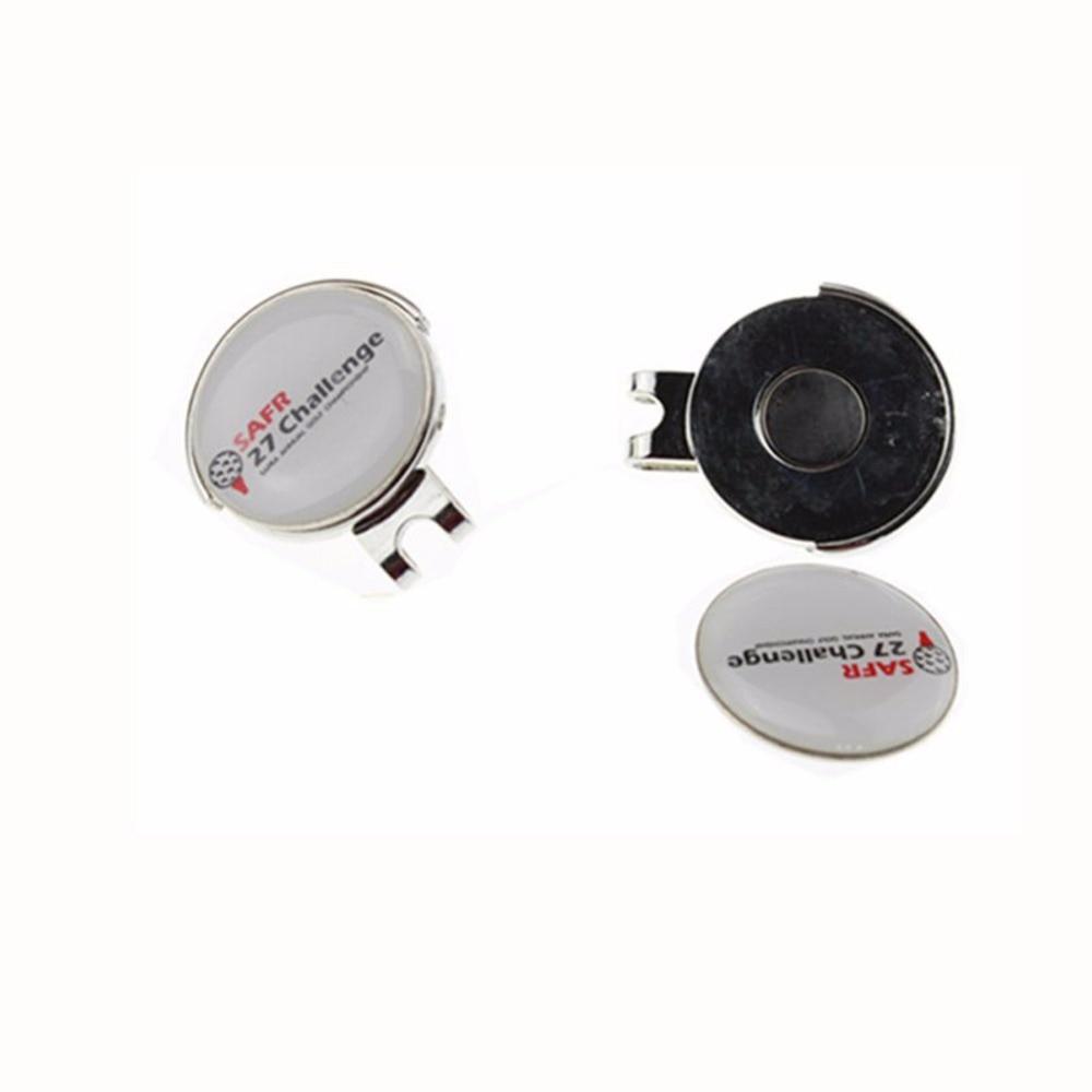 Hot Selling Custom Design Logo 100pcs/lot Golf BallMarker Set Hat Clips Golf Accessories Golf Cap Clips