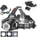 Super Bright XML T6 Brightness Headlamp light Camping Fishing Headlight Head Button Switch Powe by 2* 18650/ 3*AA