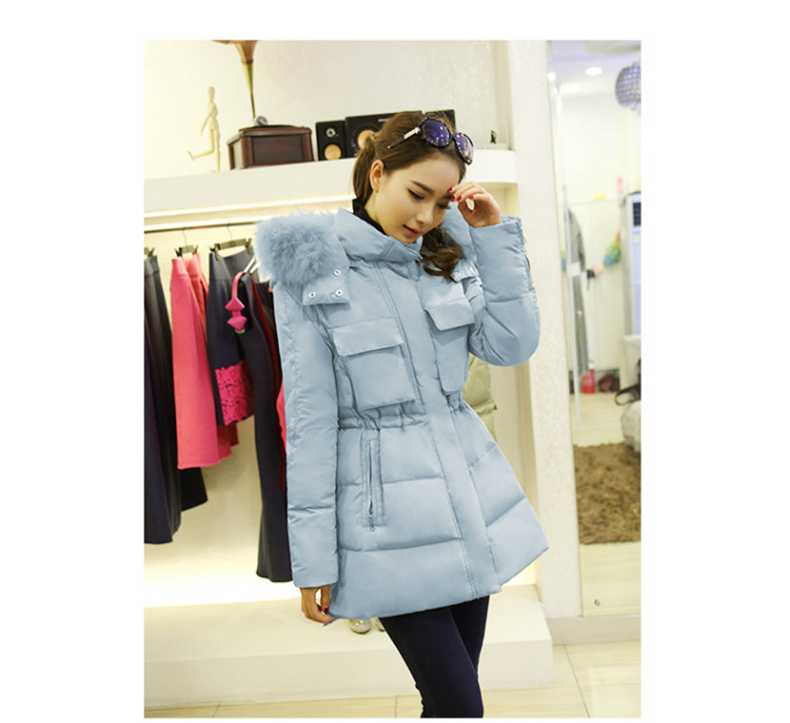 New Arrival Fashion Korean Winter Long Sleeves Hooded Fur Collar Pockets Duck Jackets Mid Long Slim Fluffy Hem Women Coat H5228 new arrival fashion korean winter hooded cotton adjustable hem double breasted puff sleeve fur collar women jacket coat h4283