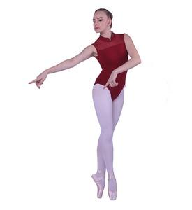 Image 5 - Балетное трико для женщин, новинка 2020, черный цвет, эластичный тренировочный танцевальный костюм для взрослых, высокое качество
