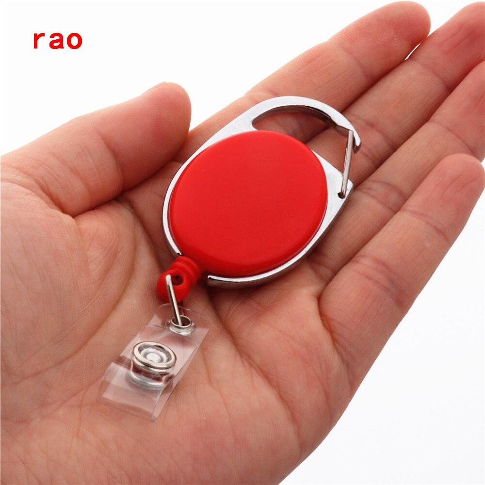 Различные наборы карт Выдвижная Тяговая катушка для бейджа ID Lanyard имя бирка держатель для карты держатель для бейджа Катушки откатный ремень брелок зажимы для цепи - Цвет: Красный