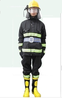 Fire fighting suit 5 pieces suit fire and fire retardant clothing