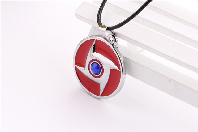 Naruto Konoha Blue Stone Necklace Pendant