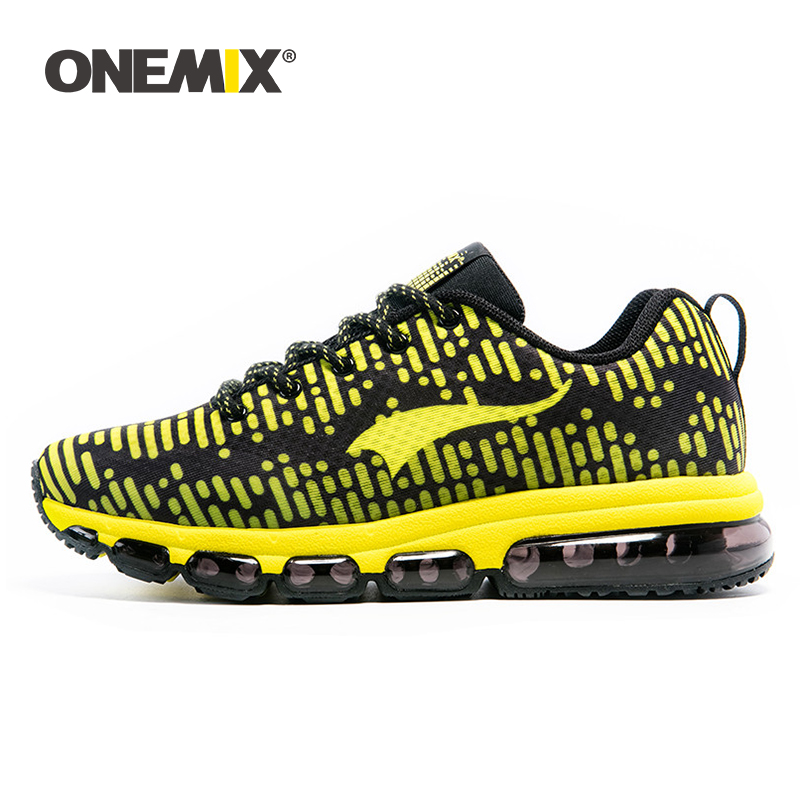 Onemix men s sports shoes women running breathable mesh male outdoor sneaker lace up zapatos de