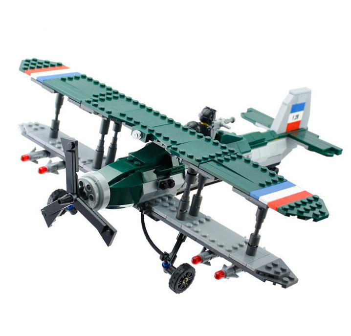 Military war classic fighter building blocks set wwi royal air force biplane model fighter toys - Lego avion de guerre ...