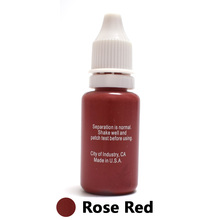 Professional Tattoo Ink Microblading Permanent Makeup Micro Pigment For Eyebrow Lip Eyeliner 1/2 Oz 15ML Rose Red 1Piece