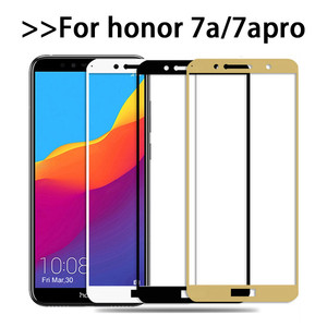 Protective glas on honor 7a pro tempered glass For huawei honor 7a screen protector huawey honor 7 a 7apro AUM-L29 DUA-L22 Film(China)