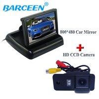 Suitable for Audi A3 A4 A6 A8 Q5 Q7 A6L wire car display monitor 4.3 foldable type +hd ccd image car reversing camera