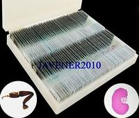 91Pcs Professional Glass Biological Microscope Prepared Slides Lab Specimens