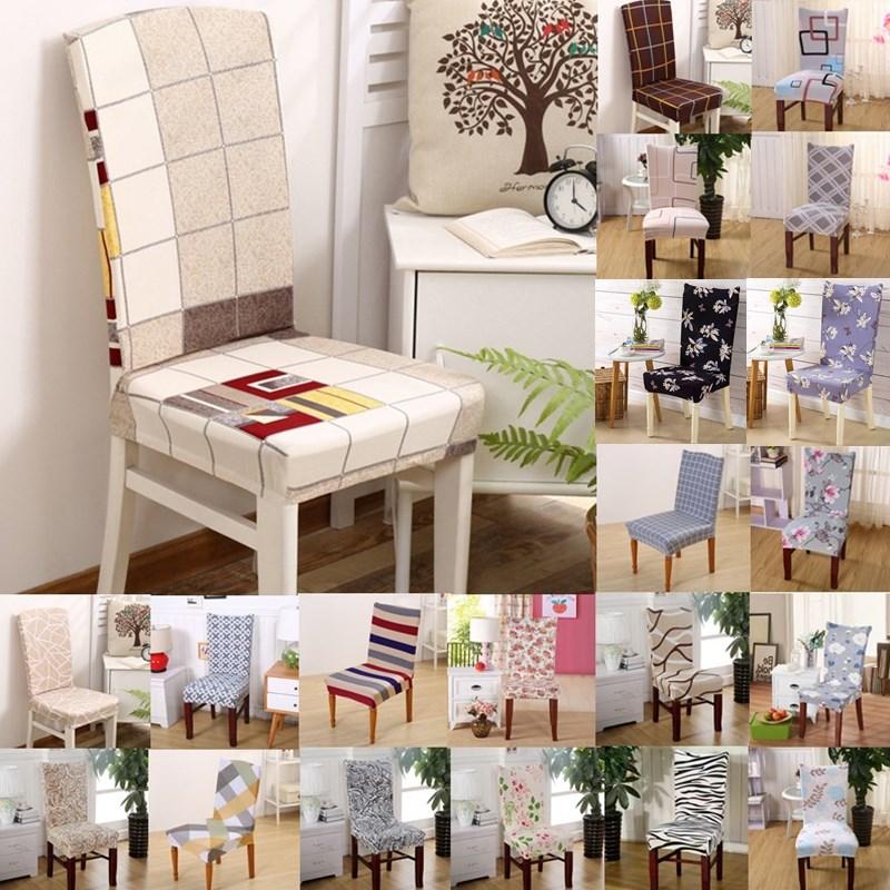 1pcs Plaids Flower Pattern Stretch Home Decor Dining Chair Cover Spandex Decoration cove ...