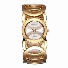 Relogio Feminino WEIQIN Магия Hollow Золотой Браслет Часы Поступила Новая Мода Дамы Кварцевые Часы Женщины Полный Стали Наручные Часы