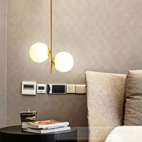 North European Post Modern Glass Bubble Ball Golden Pendent Lamp For Aisle Restaurant Study Bed Kitchen Bar Hall