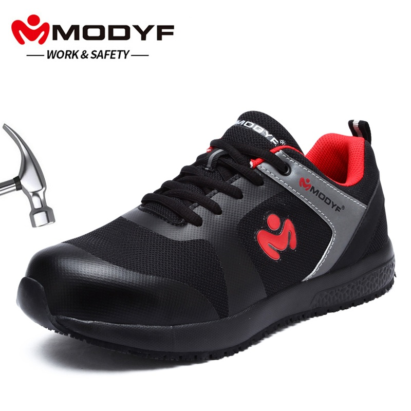 MODYF Merk mannen Outdoor Stalen Neus Werkschoenen Schoenen Mannen Anti smashing Veiligheidsschoenen Ademend Schoeisel-in Werk en veiligheidslaarzen van Schoenen op  Groep 1