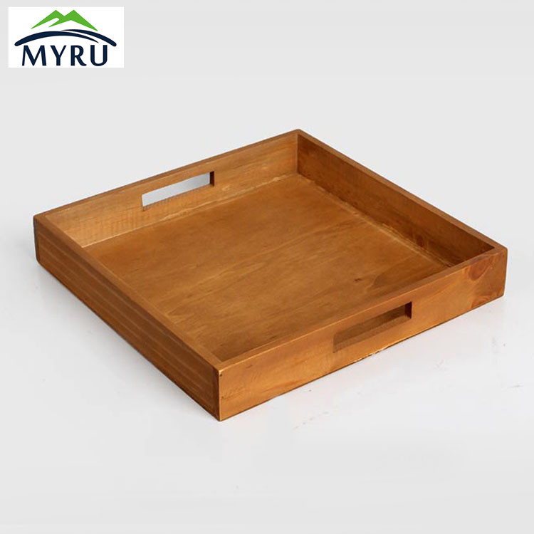 Hotel Wooden Tray Home Daily Tea Fruits Sundry Goods Storage Tray Restaurant Serving Plate