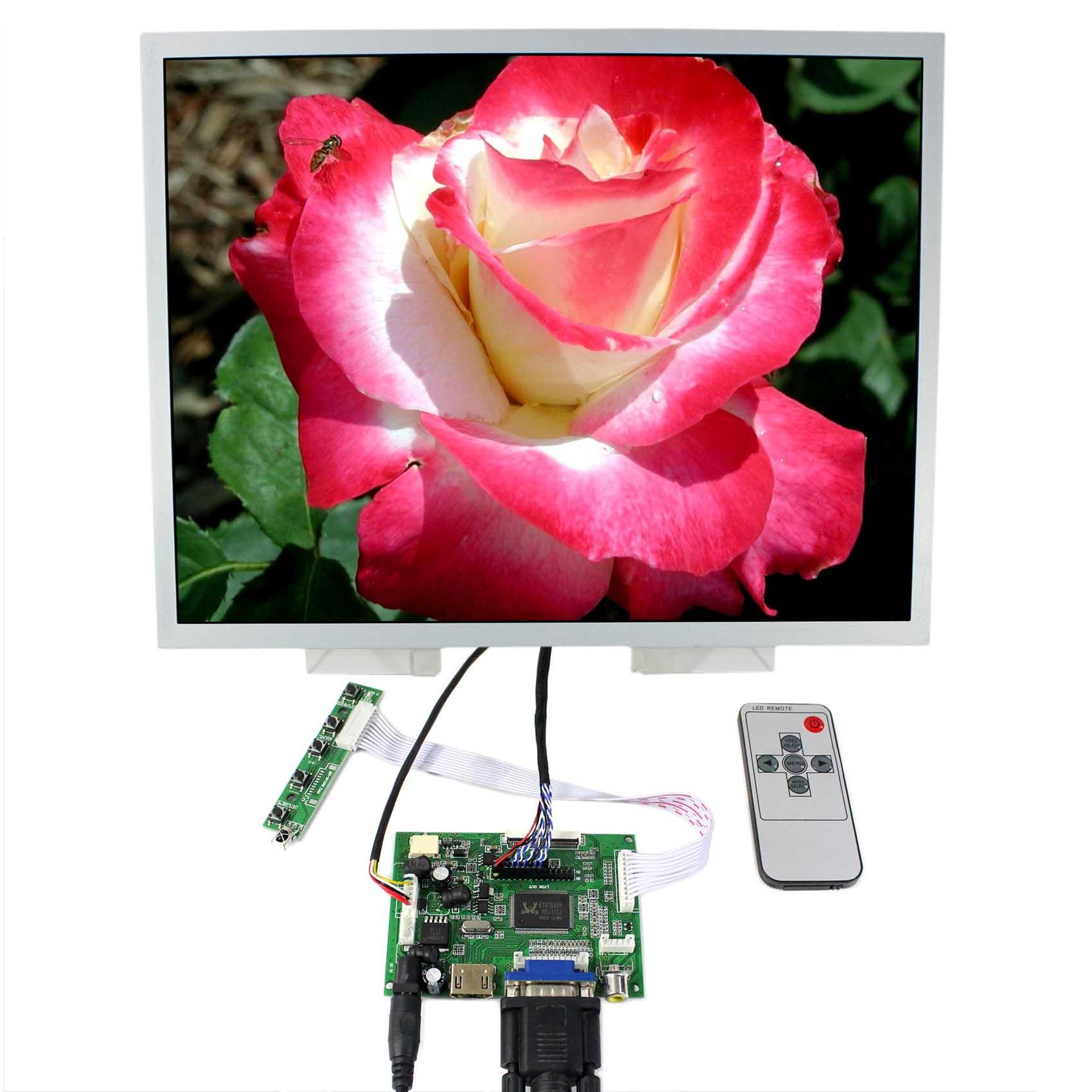 HDMI VGA 2AV Scheda di Controllo LCD 15 pollici LQ150X1LG96 1024x768 Schermo LCD