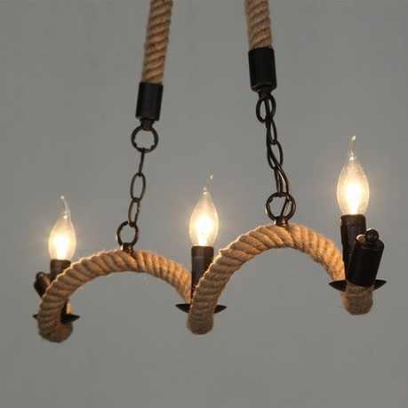 Лофт стиль подвесной светильник, украшенный пеньковой веревкой Ретро светодиодный подвесной светильник для столовой подвесной светильник винтажное промышленное освещение