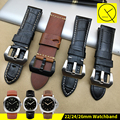 20/22mm 24mm 26mm Vintage Thick Genuine Leather Watch Band Strap Watchband Strap for Panerai Watch Man PAM RADIOMIR LUMINOR+TOOL