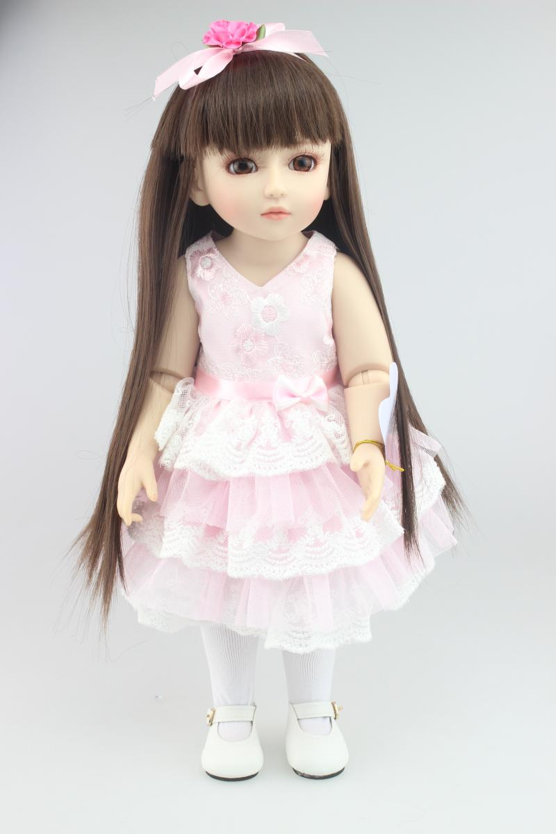 45cm high quality reborn dolls/ baby SD / BJD emulation beautiful princess Jointed doll To hair styling Dress Up Doll high quality wedding dress doll 45cm 55cm beautiful elegant pink feather dhl or fedex