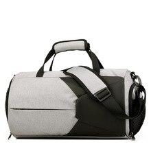 Купить с кэшбэком 2019 Sports  Travel Bag Large Capacity Men Hand Luggage Travel Duffle bag  Weekend Bags Women Multifunctional Travel Bags