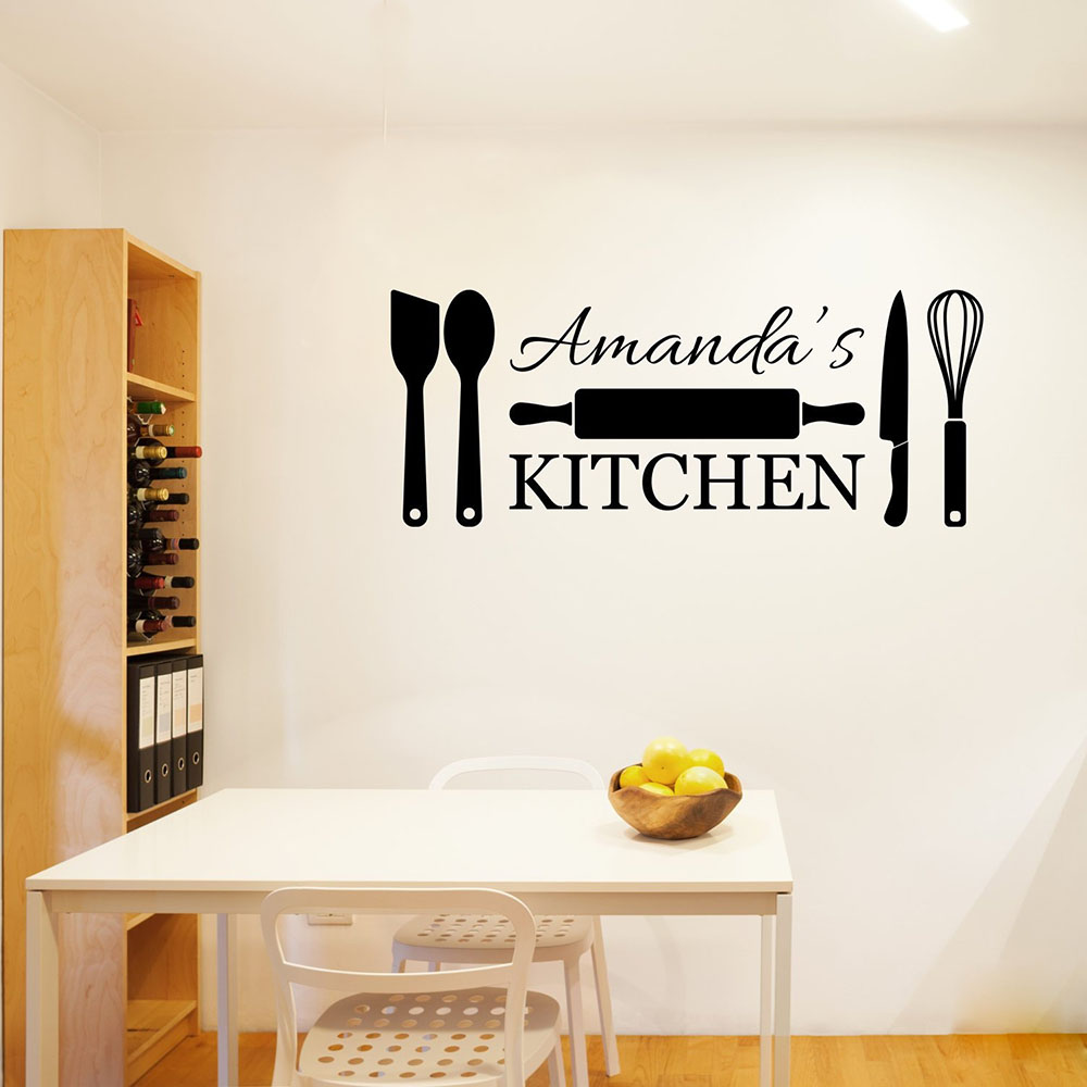 Personalized Kitchen Wall Decal Home
