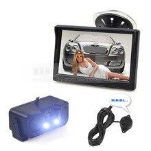 DIYKIT 5 Inch TFT LCD Display Car Monitor + Waterproof Parking Radar Sensor Car Rear View Camera + Speaker