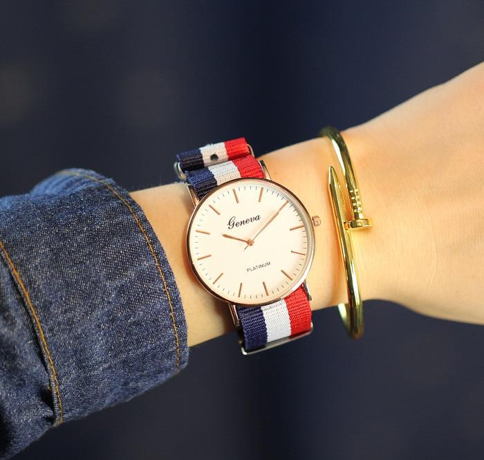 2018 Для мужчин часы модного бренда часы нейлон ткань Дата Антибликовое Сапфировое отдыха Кварцевые наручные часы Reloj Hombre