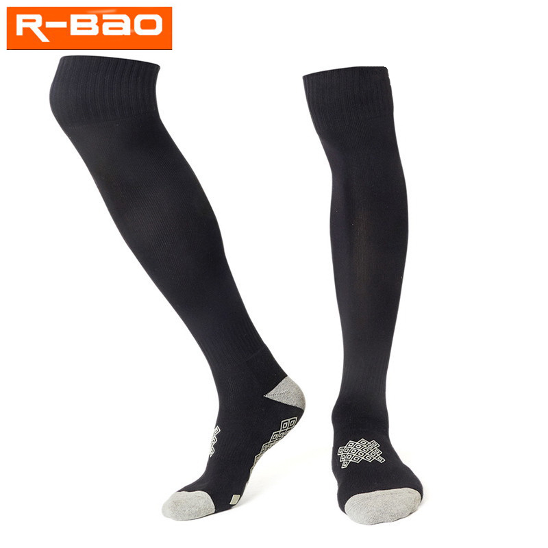 R-BAO 1 Pair Long Football Socks Sport Anti-slip Soccer Socks Men 6 Colors voetbalsokken voetbal sokken calzettoni calcio