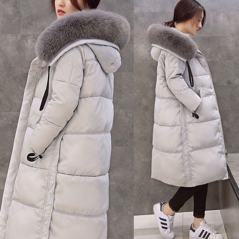 Winter Jacket Women 2015 Natural Fox Fur Collar Fashion Long Parka Duck Down Womens Winter Jackets And Coats 100% white duck down women coat fashion solid hooded fox fur detachable collar winter coats elegant long down coats