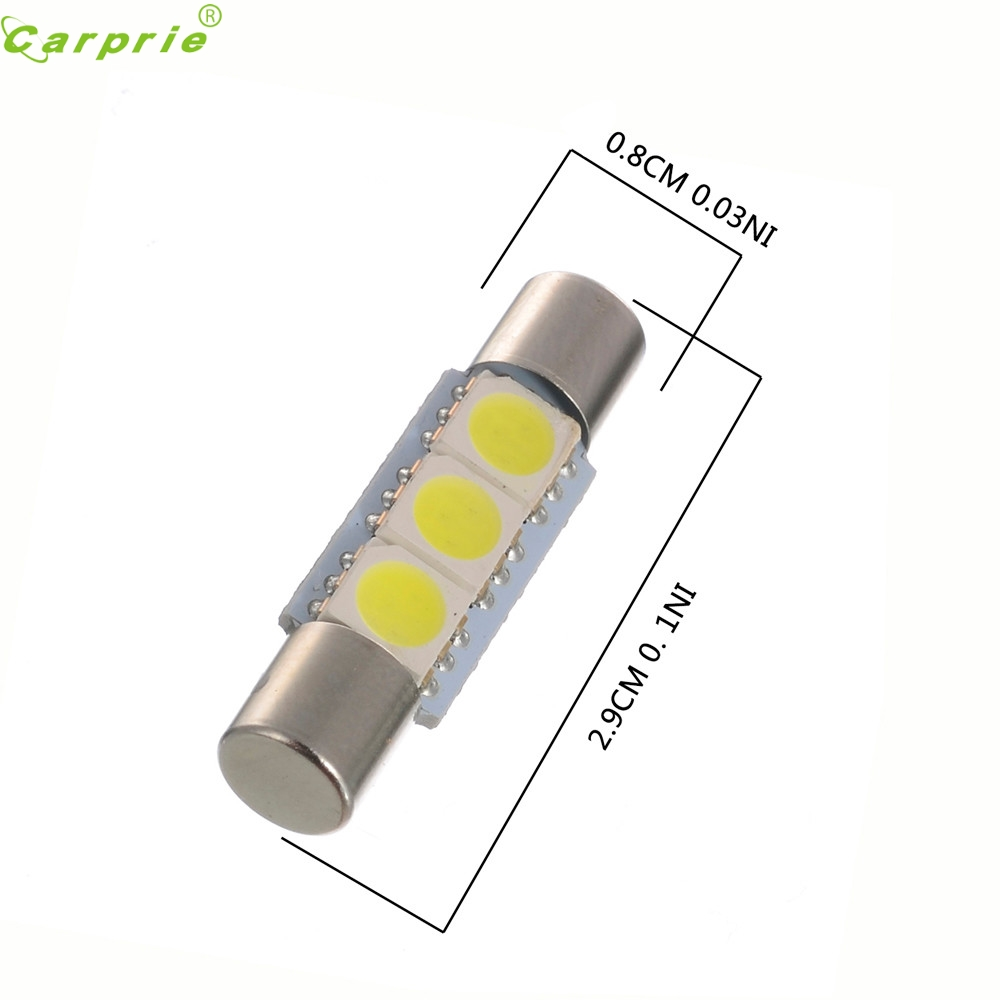 Car Light 10PC White LED 29mm 31mm 5050 3SMD Fuse Vanity ...
