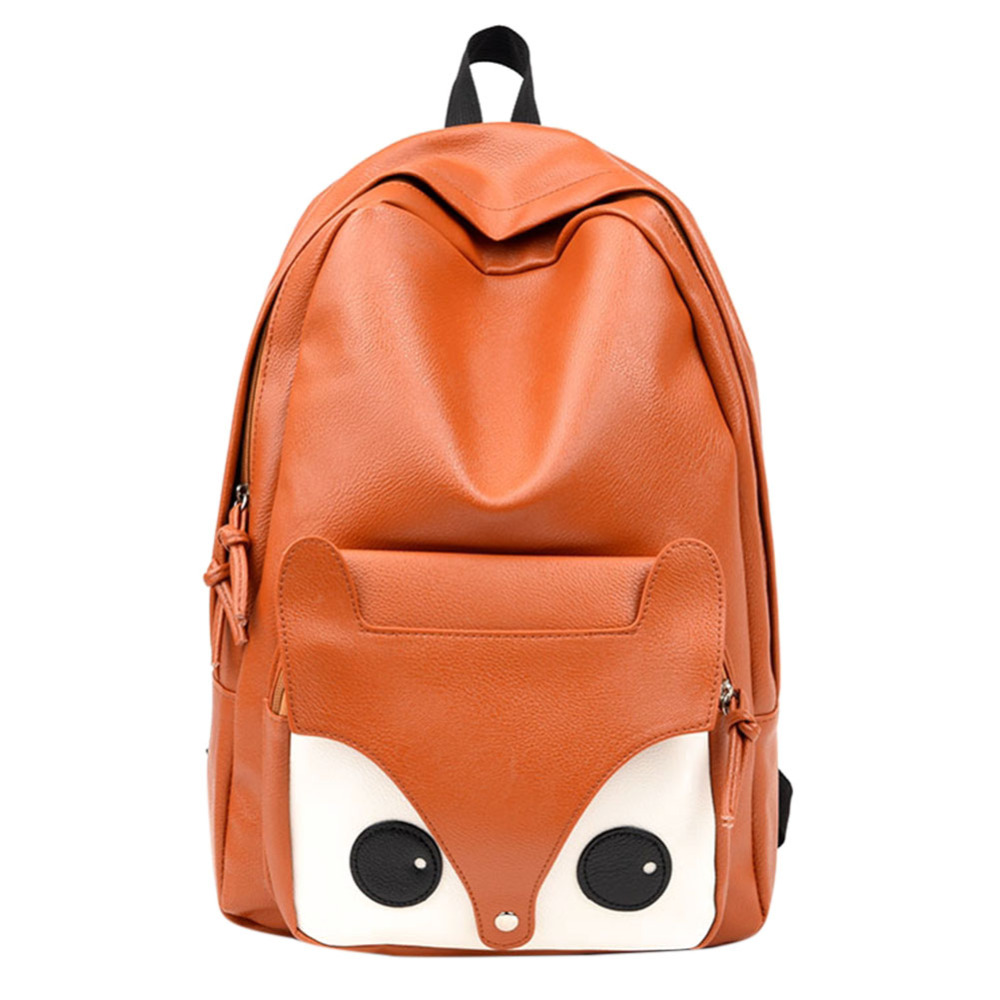 Women Canvas Backpack School Bags Lovely Cute Fox Printing Backpack For Teenagers Ladies Casual Cute Rucksack Travel 2018