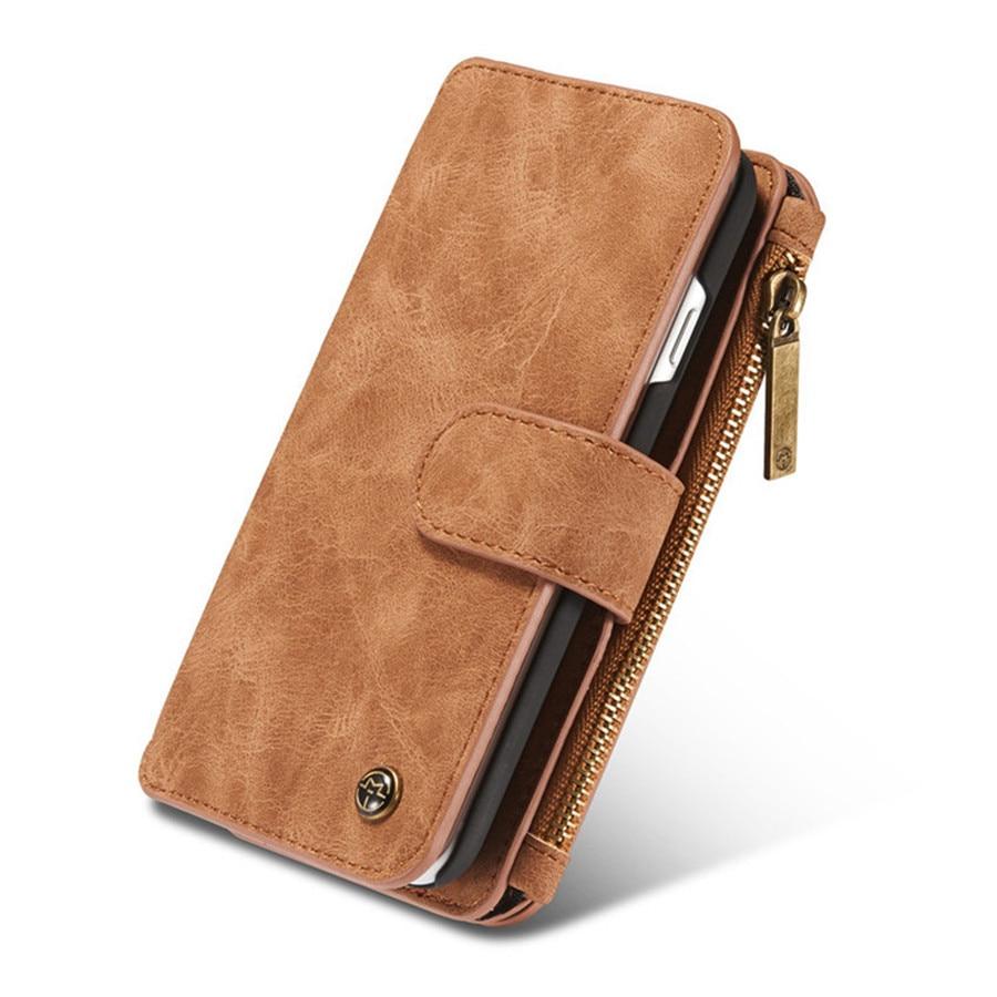 Untuk iPhone 6 Kasus Kulit Sapi Kulit 2in1 Balik Dompet Telepon Bag - Aksesori dan suku cadang ponsel - Foto 3
