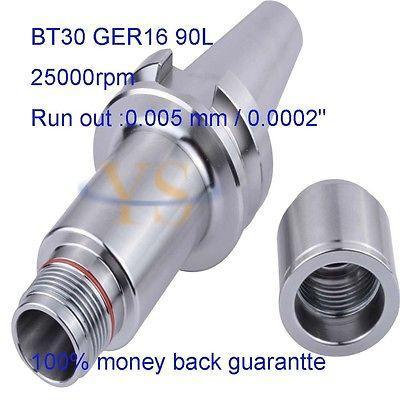 ФОТО 1pcs BT30 GER16 90L high speed balance collet chuck ER16 collets and 1 wrench