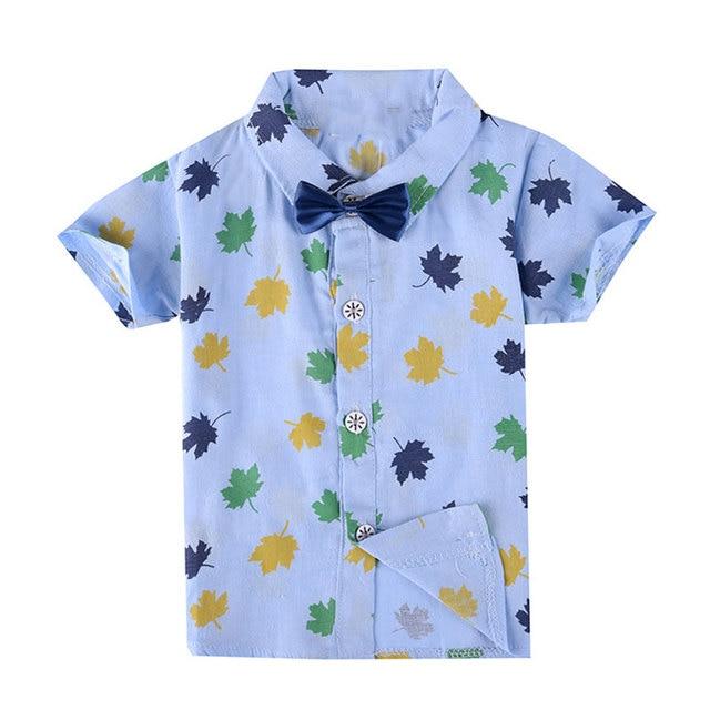 7841f659b Kids Blouse Toddler Boys Summer Shirt Brand Fashion 2016 Baby Boy Clothes  Short Sleeve Hawaiian Shirts Print Blue Camiseta Nino