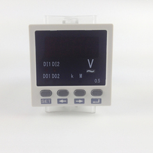 Free shipping ! single Phase AC 48*48mm mini Voltage Meter, 220V power supply ,voltage instrument LED display digital V meter  цены
