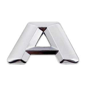 Image 4 - 3D Chrome Metal Decal DIY Letter Numbers Styling Sticker For Mercedes BENZ W124 W176 W205 W203 W168 GLE500 ML400 SEL600 SL65 AMG