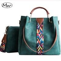 Moon Wood Women Composite Tote Bag Metal Handle Colorful Wide Strap Messenger Bag Women Leather Scrub Shoulder Bag Crossbody Bag