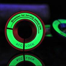 Светящаяся наклейка на зажигание переключатель крышки автомобильные аксессуары для Skoda Octavia A5 A7 RS Fabia Superb Rapid Yeti для VW Passat POLO автостайлинг