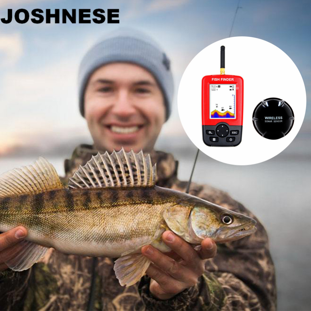 цена на Outlife Smart Portable Depth Fish Finder with 100 M Wireless Sonar Sensor echo sounder Fishfinder for Lake Sea Fishing